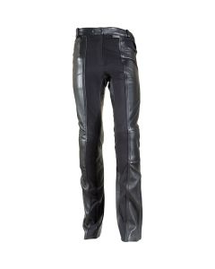 Richa Kelly Short Regular Fit Leather Trousers Black